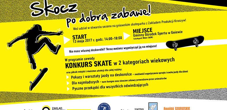 Wyskocz na weekend do gniewskiego skateparku!